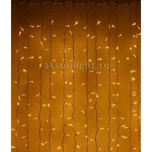 Светодиодный занавес 2 х 1м Прозрачный провод  PVC
