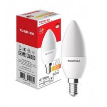 Лампа светодиодная  Toshiba Е14 Свеча матовая 220°