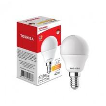 Лампа светодиодная Toshiba Е14 Шар 5 Вт матовый 220°